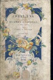 Chretiens Et Hommes Celebres Au Xixe Siecle - 2e Serie. - Couverture - Format classique