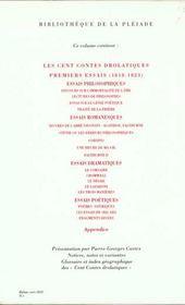 Oeuvres diverses t.1 - 4ème de couverture - Format classique