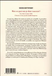 Mais en quoi suis-je donc concerné ? un crime en mars 1945 ; l'histoire d'une grande famille hongroise - 4ème de couverture - Format classique