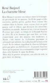 La charrette bleue - 4ème de couverture - Format classique