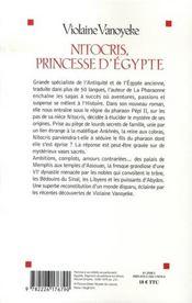 Nitocris, princesse d'Egypte - 4ème de couverture - Format classique