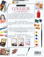 Couleur A L'Aquarelle - 4ème de couverture - Format classique