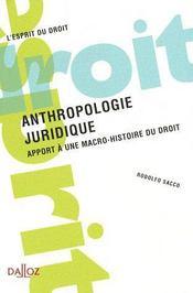 Anthropologie juridique - Intérieur - Format classique