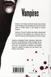 Vampires - 4ème de couverture - Format classique