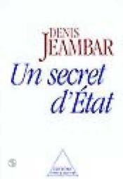 Un Secret D'Etat - Couverture - Format classique
