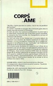 Du Corps A L'Ame - 4ème de couverture - Format classique