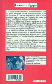 Lumiere D'Egypte - 4ème de couverture - Format classique