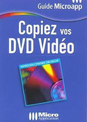 Copier Vos Dvd Video-T.12-Guide Ma - Intérieur - Format classique
