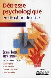 Détresse psychologique en situation de crise - Intérieur - Format classique