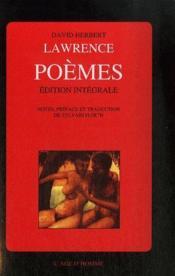 Intégrale des poèmes - Couverture - Format classique