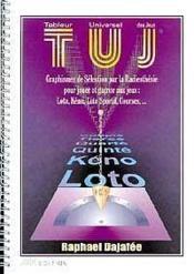 T.U.J. Tableur Universel Des Jeux - Couverture - Format classique
