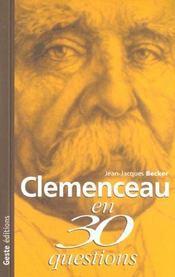 Clemenceau en 30 questions - Intérieur - Format classique