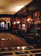 Hôtels de luxe de paris - Intérieur - Format classique