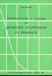 Methodes stat.pharmacie - Couverture - Format classique