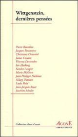 Wittgenstein, dernières pensées - Couverture - Format classique