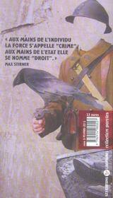 Paroles Antimilitaristes - 4ème de couverture - Format classique