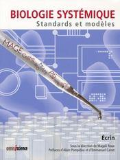 Biologie systémique ; standards et modèles - Intérieur - Format classique