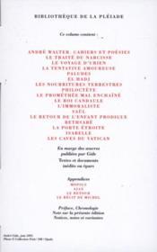 Romans et récits ; oeuvres lyriques et dramatiques t.1 - 4ème de couverture - Format classique