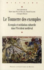 Le tonnerre des exemples ; exempla et médiation culturelle dans l'Occident médiéval - Couverture - Format classique