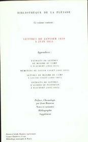 Correspondance t.1 ; janvier 1830 - mai 1851 - 4ème de couverture - Format classique