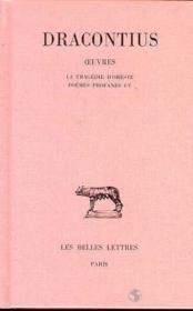 Oeuvres t.3 ; L1-4 : tragédie d'Oreste - Couverture - Format classique