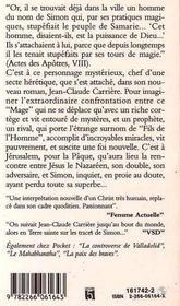 Simon Le Mage - 4ème de couverture - Format classique