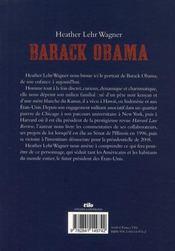 Barack Obama - 4ème de couverture - Format classique