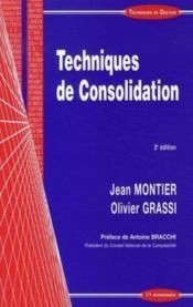 Techniques De Consolidation (2e Edition) - Couverture - Format classique
