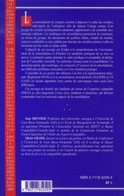 Techniques De Consolidation (2e Edition) - 4ème de couverture - Format classique