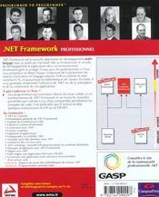 Wron.net framework professionnel - 4ème de couverture - Format classique