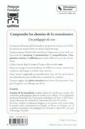 Comprendre Les Chemins De La Connaissance - 4ème de couverture - Format classique