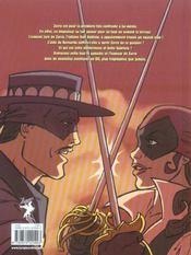 Zorro T.1 ; L'Armee Secrete - 4ème de couverture - Format classique