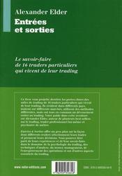 Entrees Et Sorties - Traduction De L'Ouvrage Entries & Exits - 4ème de couverture - Format classique