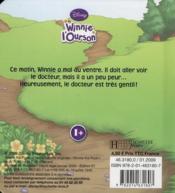 Winnie l'Ourson ; Winnie est malade - 4ème de couverture - Format classique