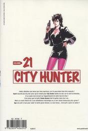 City Hunter T.21 - 4ème de couverture - Format classique