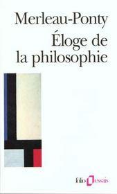 Eloge De La Philosophie Et Autres Essais - Intérieur - Format classique