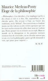 Eloge De La Philosophie Et Autres Essais - 4ème de couverture - Format classique