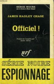Officiel ! Collection : Serie Noire N° 918 - Couverture - Format classique