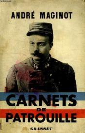 Carnets De Patrouille. - Couverture - Format classique