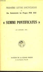 Premiere Encyclique De Sa Saintete Le Pape Pie Xii, 'Summi Pontificatus' (20 Oct. 1939) - Couverture - Format classique