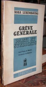 Grève générale - Parti et Syndicats - Couverture - Format classique
