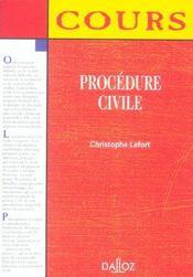 Procedure Civile - Intérieur - Format classique