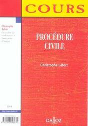 Procedure Civile - 4ème de couverture - Format classique