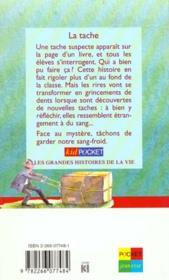 Tache - 4ème de couverture - Format classique