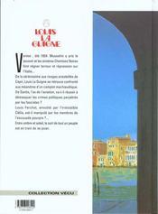 Louis la guigne t.5 ; l'escouade pourpre - 4ème de couverture - Format classique