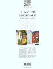 La Societe Medievale - 4ème de couverture - Format classique