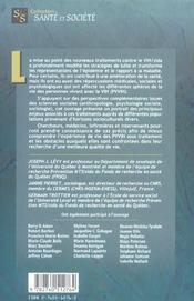 Les traitements antirétroviraux ; expériences et défis - 4ème de couverture - Format classique
