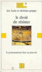 Le droit de resister - Couverture - Format classique