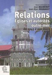 Relations Eglises Et Autorites Outre Mer - Intérieur - Format classique