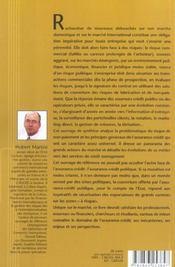 L'assurance-credit dans le monde-mecanismes et perspectives - 4ème de couverture - Format classique